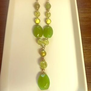 Jewelry - Green and Gold Necklace